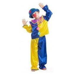Strój Klaun żółty - przebrania / kostiumy dla dzieci, odgrywanie ról - 128 cm