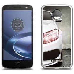 Foto Case - Lenovo Moto Z Force - etui na telefon Foto Case - biały samochód