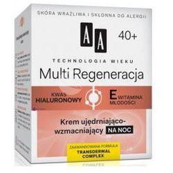 AA Technologia Wieku 40+ Multi Regeneracja (w) krem ujędrniająco-wzmacniający na noc 50ml