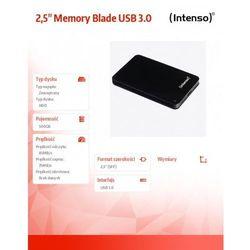 Intenso 500GB 2.5'' HDD USB 3.0 zewnętrzny MEMORYBLADE Czarny DARMOWA DOSTAWA DO 400 SALONÓW !!