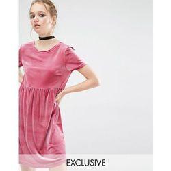 Reclaimed Vintage Smock Dress In Velvet - Black