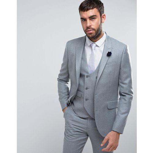 2fbc0c0f406fd ASOS WEDDING Slim Suit Jacket in Light Grey 100% Merino Wool - Grey ...