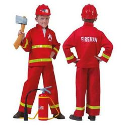 FUNNY FASHION Strój strażaka 2-częściowy