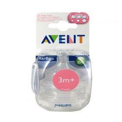 Avent Classic Smoczek do butelki trójprzepływowy 2 szt 3m+
