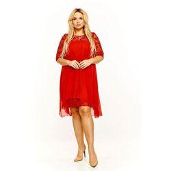 e6599ce337 suknie sukienki suknia bena pudrowy roz z gipiurowa koronka ...
