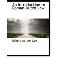 Introduction to Roman-Dutch Law