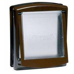 Drzwiczki Staywell s transparentním flapem 775 hnědá
