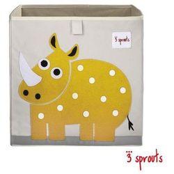 3 SPROUTS Pudełko na zabawki - Nosorożec