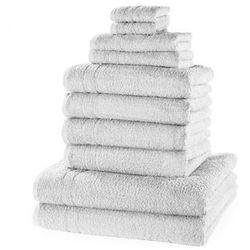 Komplet ręczników (10 części) bonprix biały