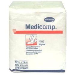 KOMPRESY MEDICOMP, niejałowe,10x10, 4w, 100 szt