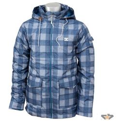 kurtka męskie zimowy DC - D053840103 - BLUE Plaid