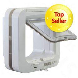 SureFlap Drzwiczki z mikrochipem - Forma do montażu w szkle biała