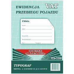 DRUK EWIDENCJA PRZEBIEGU POJAZDU VAT PION A5 48023 [9056]