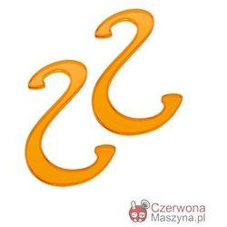 2 Haczyki łazienkowe Koziol Hook pomarańczowe przezroczyste