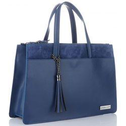 90186068eb7e8 Eleganckie Torebki Skórzane kuferki firmy Vittoria Gotti Niebieska (kolory)