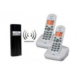 Domofon bezprzewodowy, teledomofon, dwa unifony ORNO OR-DOM-CL-910/W