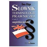 Słownik terminologii prawniczej część 2 angielsko-polska