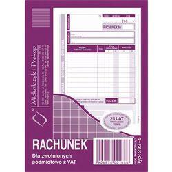 Rachunek dla zwol. podmiot. z Vat Michalczyk&Prokop 232-5 - A6 (oryginał+kopia)