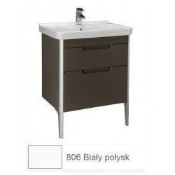 Zestaw łazienkowy szafka + umywalka Roca Unik 65 cm, biały połysk, 2 szuflady A851047806