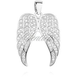 Srebrna zawieszka pr.925 skrzydła anioła z cyrkoniamii