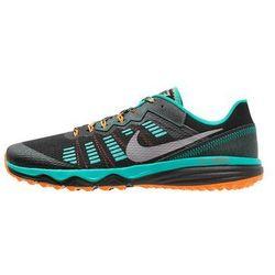 Nike Performance DUAL FUSION TRAIL 2 Obuwie do biegania Szlak black/metallic cool grey/clear jade/total orange