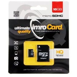 IMRO KARTA FLASH MICROSD 16GB 10 UHS-I Z ADAPTEREM DARMOWA DOSTAWA DO 400 SALONÓW !!