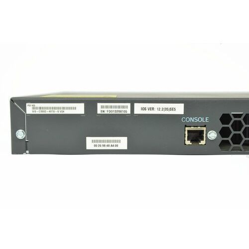 WS-C3560-48TS-S Switch Cisco Catalyst 3560 48 10/100 + 4 SFP, IP Base