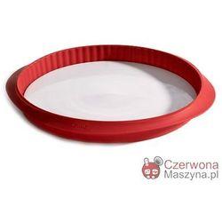 Forma do tarty z talerzem Lékué Duo czerwona