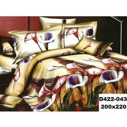 Komplet Pościeli 200x220 Pościel 4cz Kwiaty 3D 043 - 043