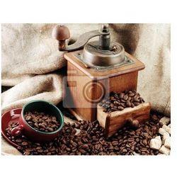 Obraz retro młynek do kawy z filiżanki