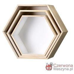 3 Półki Bloomingville Hexagon, białe