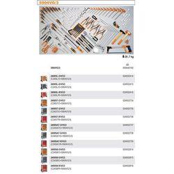 WÓZEK NARZĘDZIOWY 2400/C24S8 Z ZESTAWEM NARZĘDZI, 132 ELEMENTY, MODEL 2400S8-R/VG3, CZERWONY