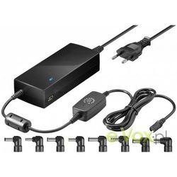 Goobay - zasilacz uniwersalny do laptopa - 81W + ładowarka USB