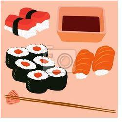 Obraz vector kuchnia japońska