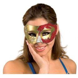 Maska wenecka czerwona