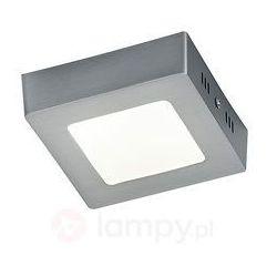 Niklowana lampa sufitowa LED Zeus