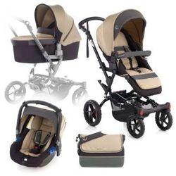 JANE Wózek sportowy Crosswalk + fotelik samochodowy Babyschale Koos +gondolka Nano Clay
