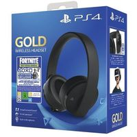 SONY PS4 Gold/Black Wireless headset, czarny + Fortnite 500 V Bucks