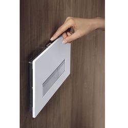 Przycisk biały szklany Geberit Sigma40 do WC z odciągiem zapachów 115.600.SI.1