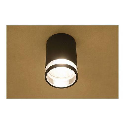 lampy tuby sufitowe czarne gu10 grube skośne