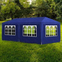 vidaXL Pawilon ogrodowy, niebieski (3x6 m) Darmowa wysyłka i zwroty