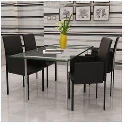 Zestaw foteli jadalnianych ze sztucznej skóry 4 sztuki czarne Zapisz się do naszego Newslettera i odbierz voucher 20 PLN na zakupy w VidaXL!