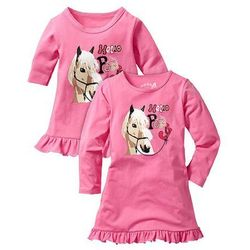Koszula nocna + koszula nocna dla lalki (2 części) bonprix jaskrawy jasnoróżowy