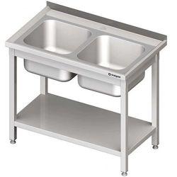 Stół ze zlewem 2-kom.,z półką 1000x700x850 mm spawany