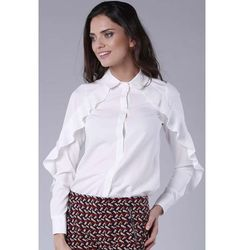 0e3ffd322c540a bluzki damskie biala stylowa bluzka z falbankami na bokach (od ...