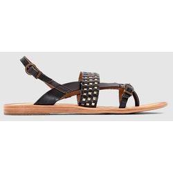 Płaskie skórzane sandały Newtong,