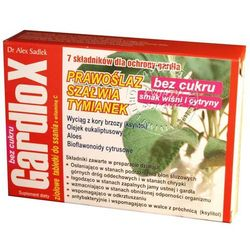 Gardlox ziołowe tabletki do ssania bez cukru o smaku wiśni x 16 tabl