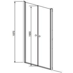 Radaway Eos DWD drzwi wnękowe dwuczęściowe (wahadłowe) 80 cm 37713-01-01N