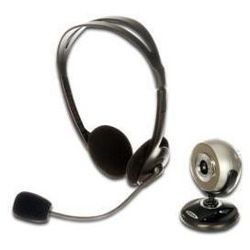 Kamera internetowa Ednet, zestaw kamera 1280x1024 + Słuchawki z mikrofonem
