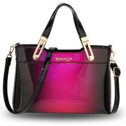 5cbbb2229b559 wyrafinowana fioletowa lakierowana torebka zawieszka w kategorii ...